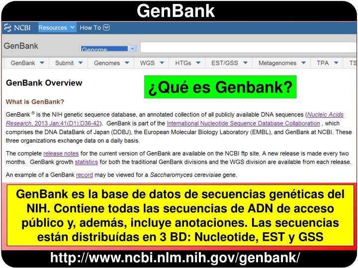¿Qué es Genbank?