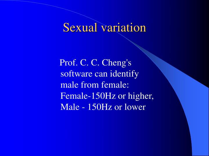 Sexual variation