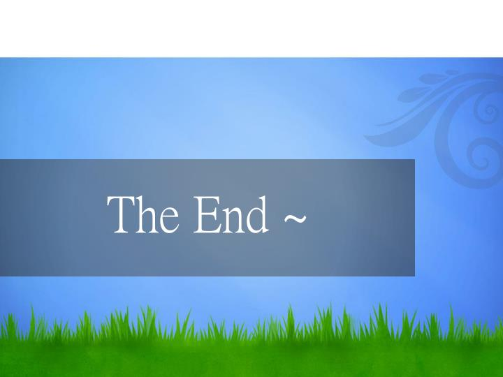The End ~