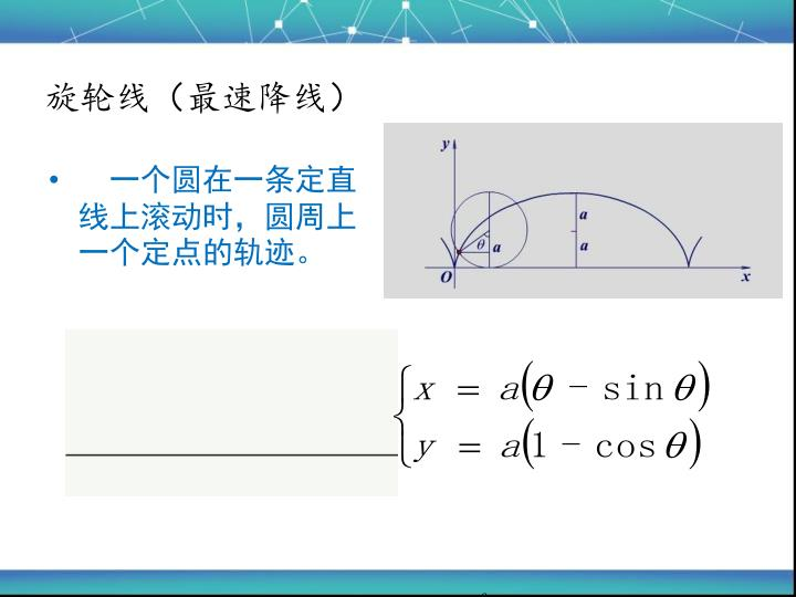 旋轮线(最速降线)