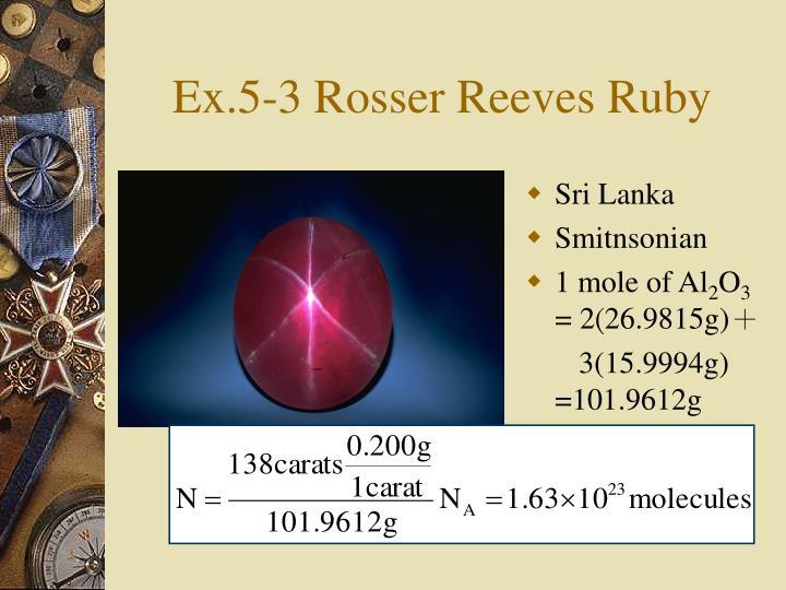 Ex.5-3 Rosser Reeves