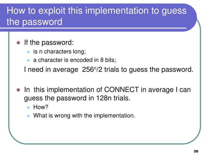 How to exploit this implementation to guess the password