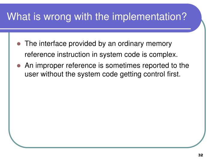 What is wrong with the implementation?
