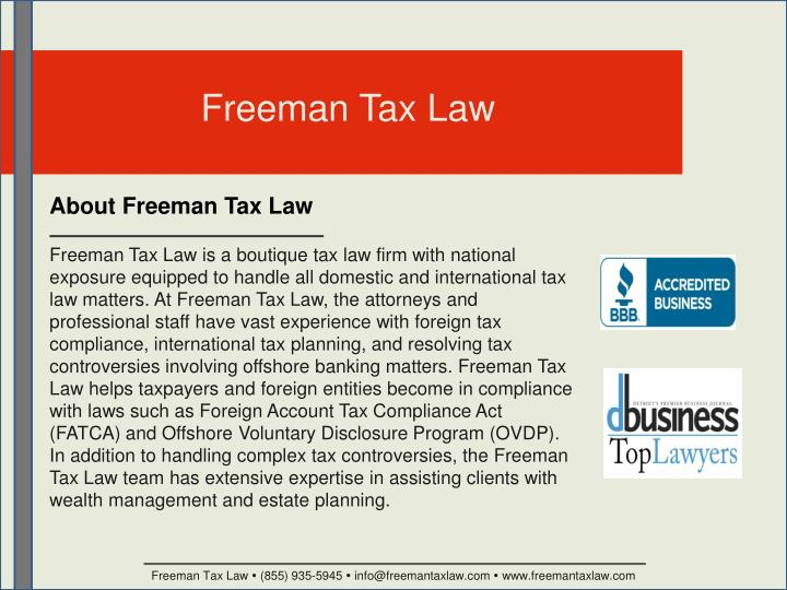 Freeman Tax Law