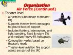organization air force continued