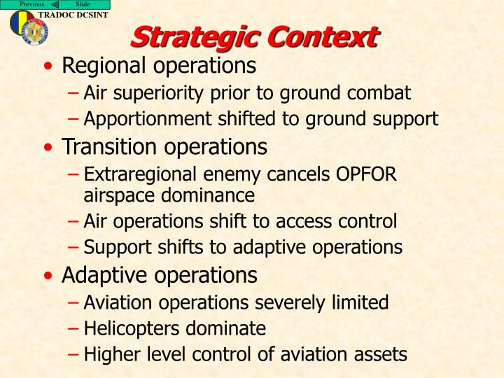 Strategic Context
