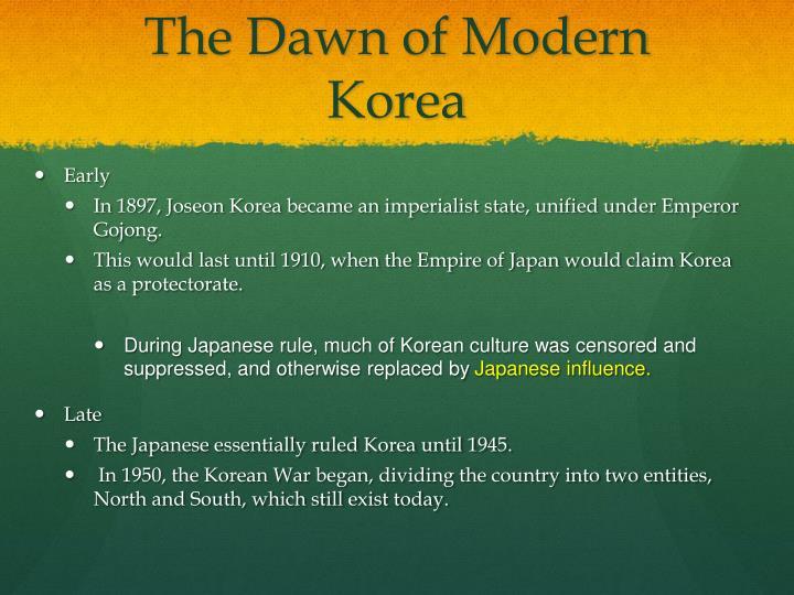 The Dawn of Modern Korea