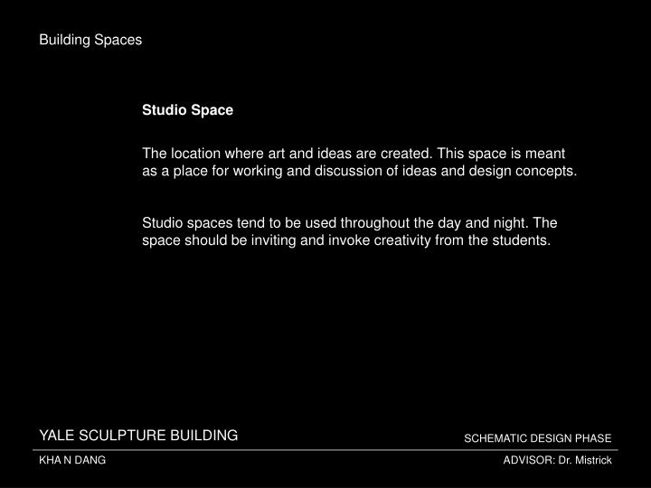 Building Spaces