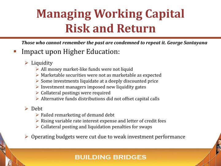Managing Working Capital