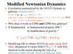 modified newtonian dynamics