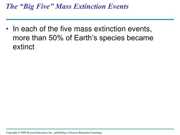 "The ""Big Five"" Mass Extinction Events"