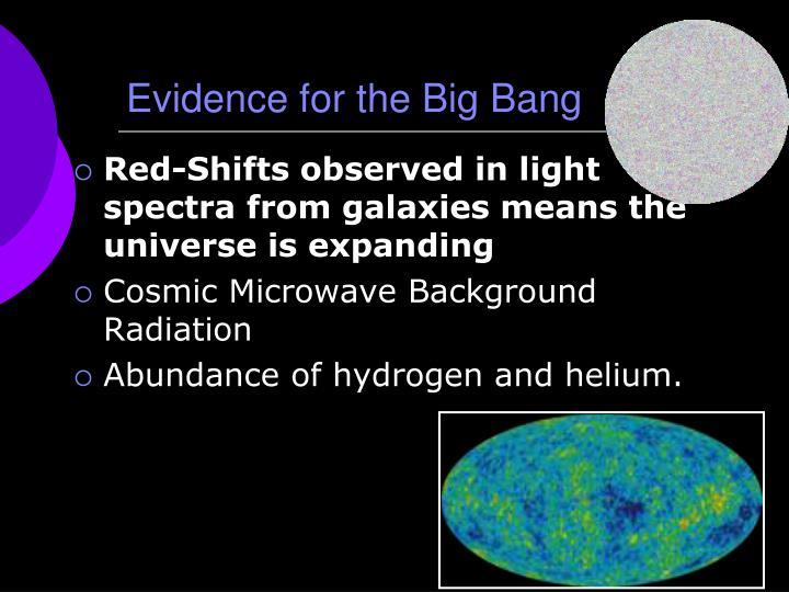 Evidence for the Big Bang