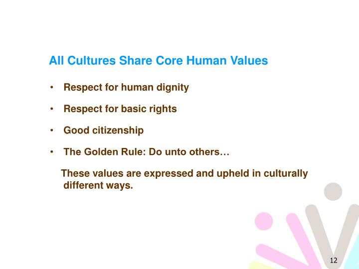 All Cultures Share Core Human Values
