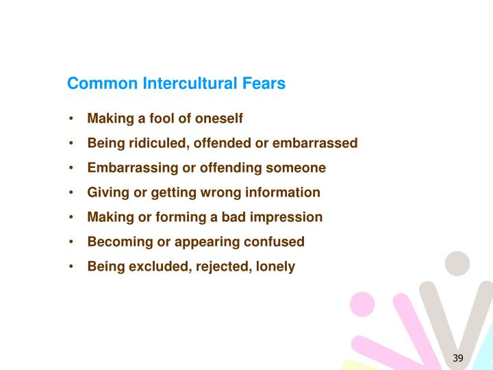 Common Intercultural Fears