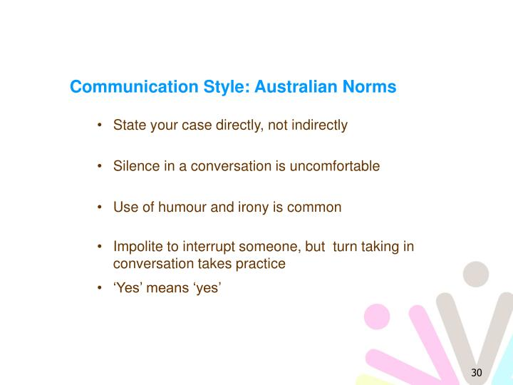 Communication Style: Australian Norms