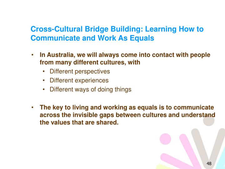 Cross-Cultural Bridge Building: Learning How to Communicate and Work As Equals