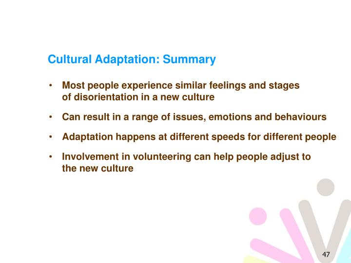 Cultural Adaptation: Summary