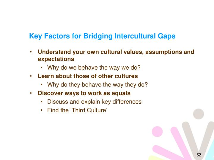 Key Factors for Bridging Intercultural Gaps