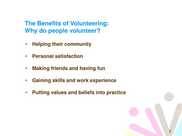 The Benefits of Volunteering: