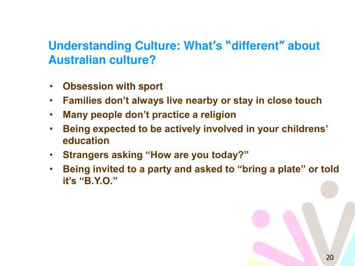 Understanding Culture: What
