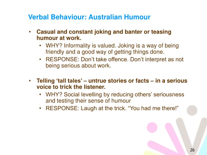Verbal Behaviour: Australian Humour