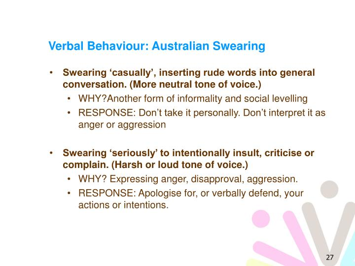 Verbal Behaviour: Australian Swearing