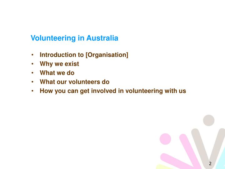 Volunteering in australia