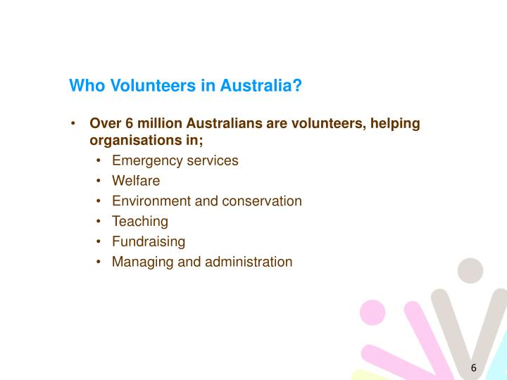 Who Volunteers in Australia?