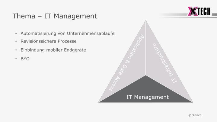 Thema – IT Management