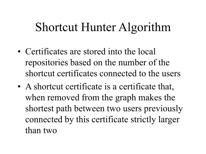 Shortcut Hunter Algorithm