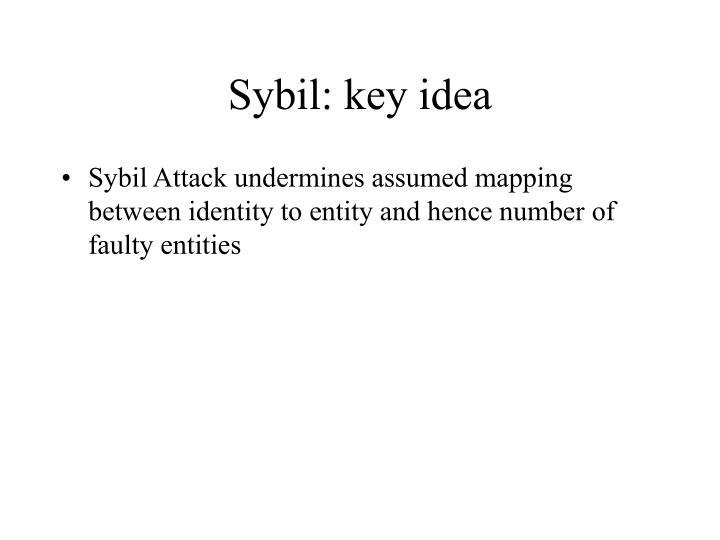 Sybil: key idea