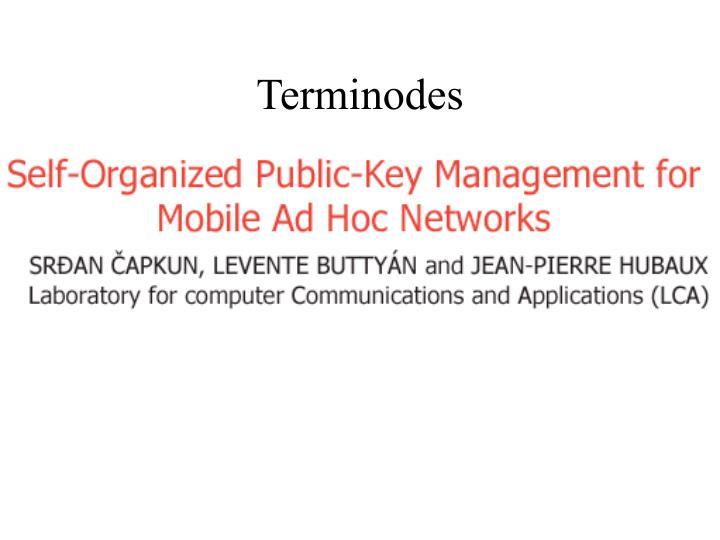 Terminodes