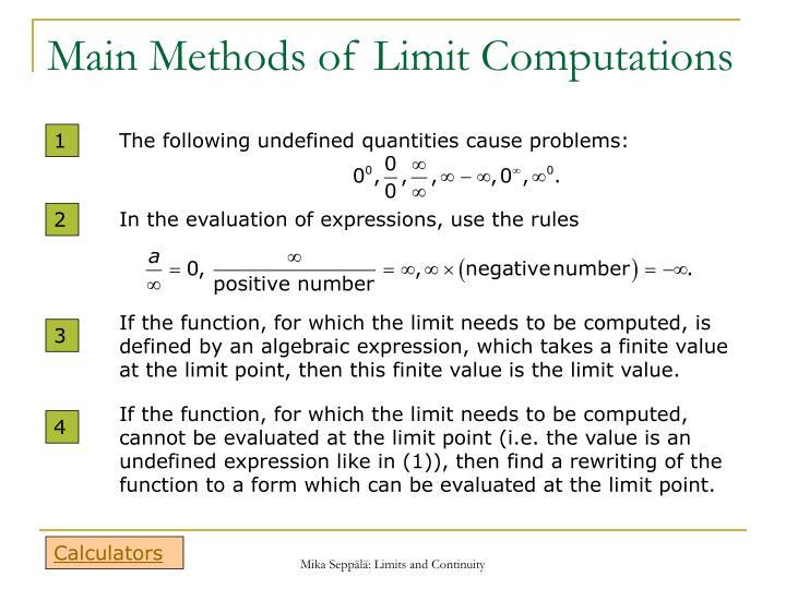 method of limits