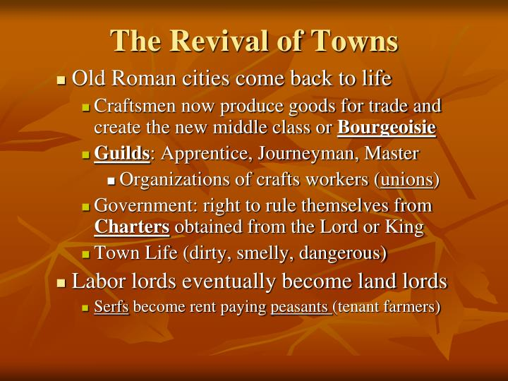 The Revival of Towns