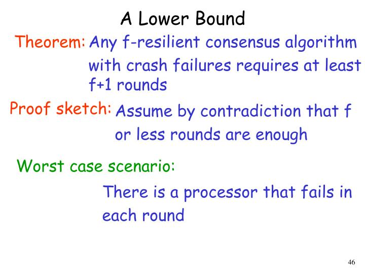 A Lower Bound
