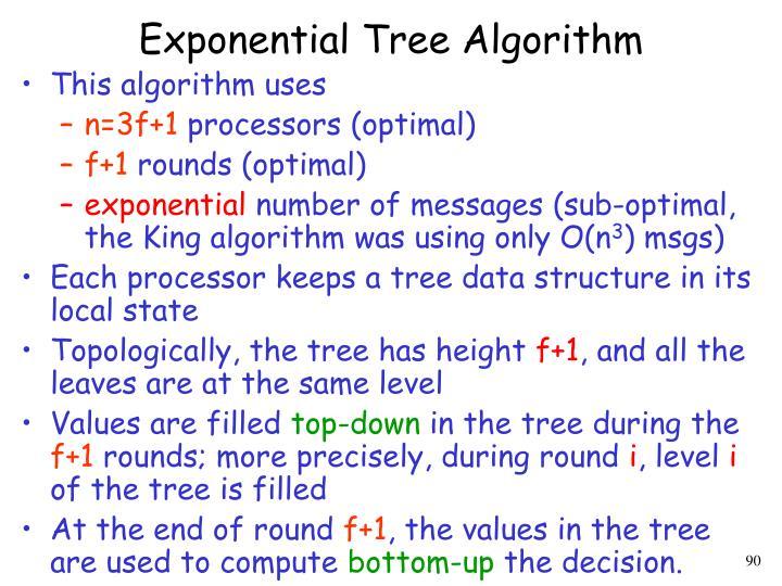 Exponential Tree Algorithm