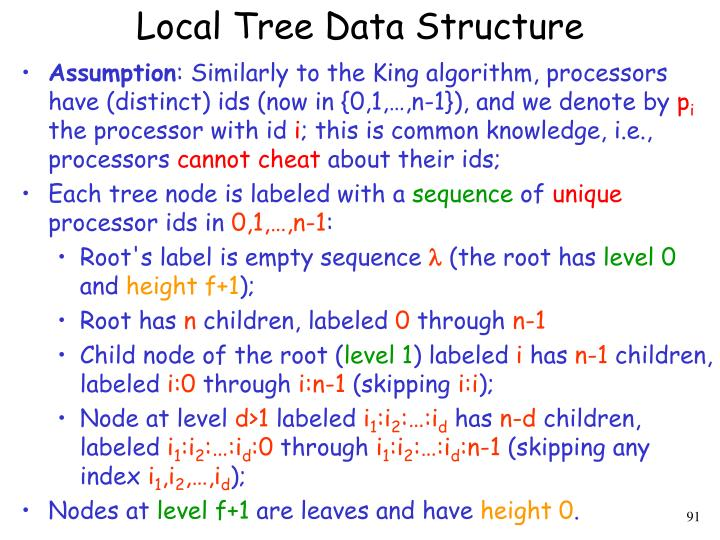 Local Tree Data Structure