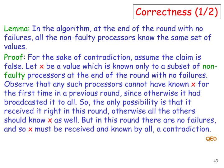Correctness (1/2)
