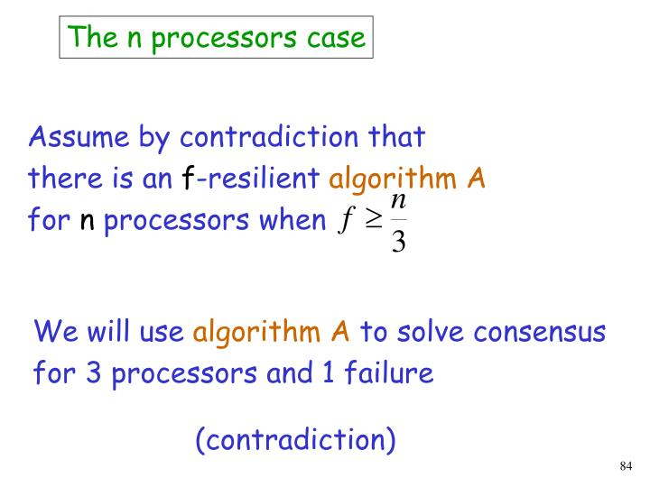 The n processors case
