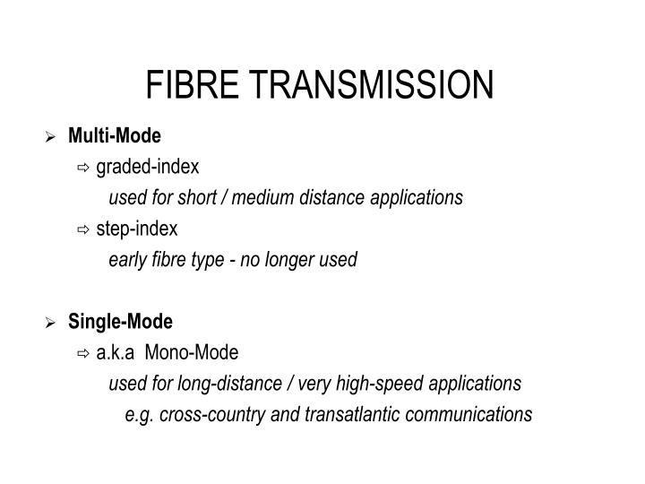 FIBRE TRANSMISSION