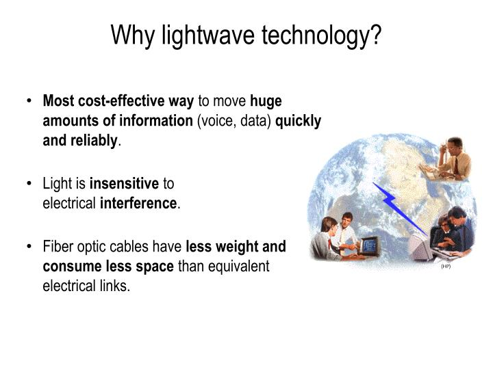 Why lightwave technology?