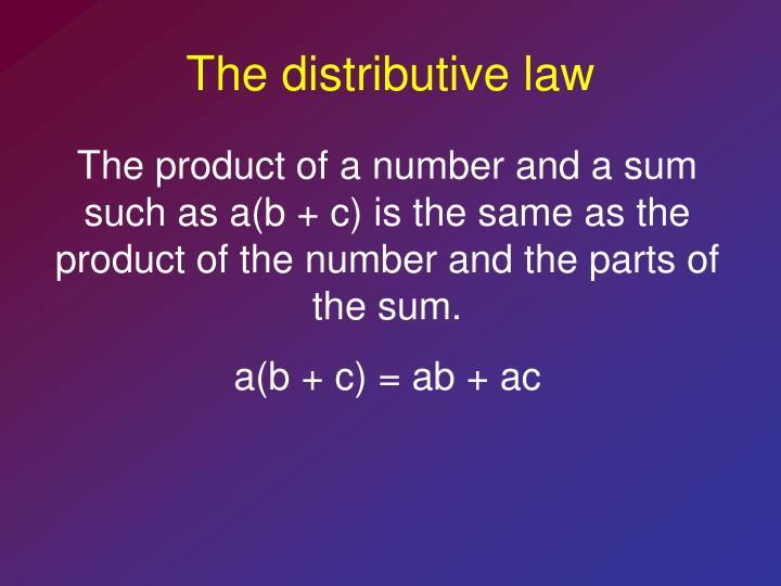The distributive law