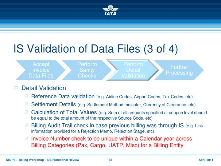 IS Validation of Data Files (3 of 4)