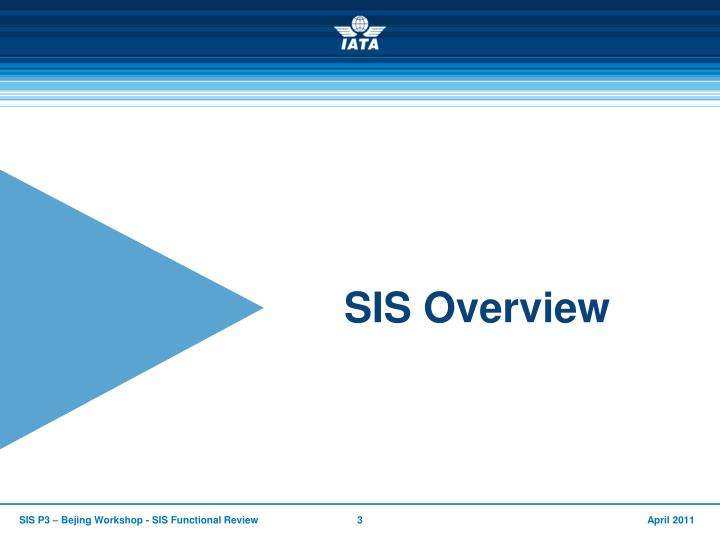 SIS Overview