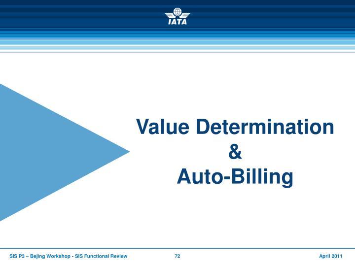 Value Determination