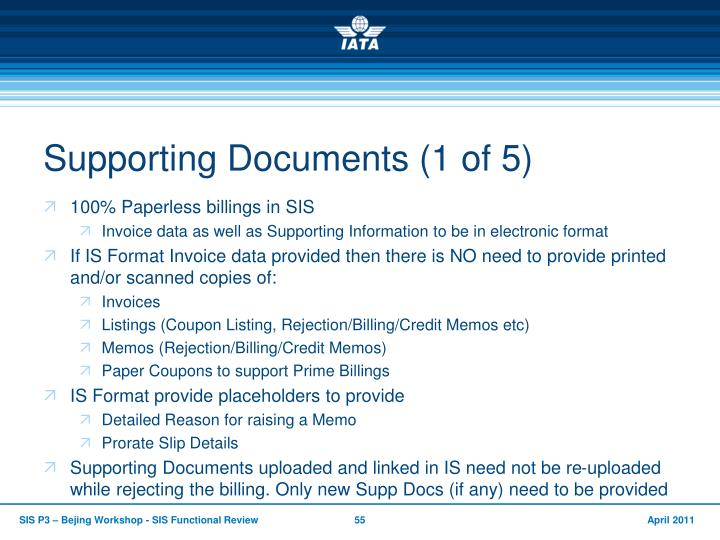 Supporting Documents (1 of 5)