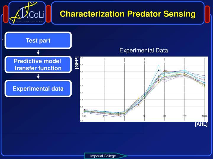 Characterization Predator Sensing