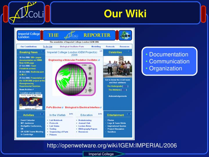 Our Wiki