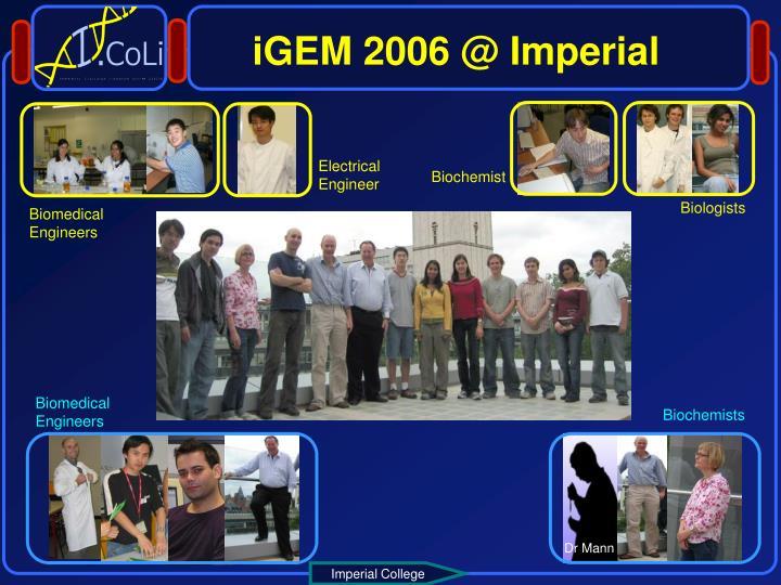 iGEM 2006 @ Imperial