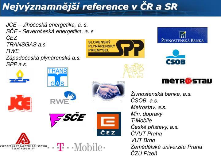 Nejvýznamnější reference v ČR a SR